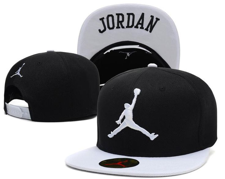 "Men's Nike Air Jordan The White ""Jumpman"" Embroidery Logo ""Jordan"" Sports Fashion Snapback Hat - Black / White"