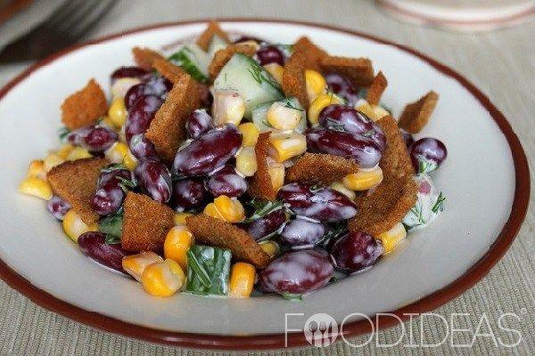 Салат с кукурузой и фасолью   Застолье-онлайн
