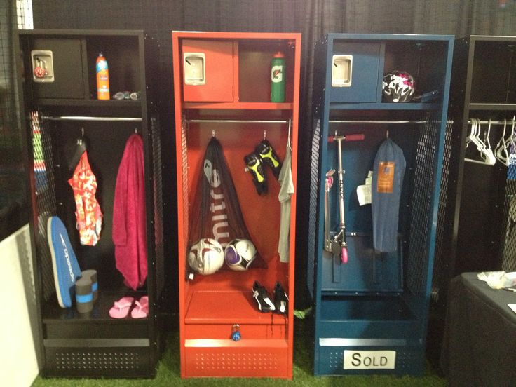 Add locker storage for gear and sports equipment. This