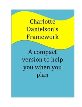 Free!  If you use Danielson's Framework, this is a must!  A cheat sheet to help you when you are planning at home.