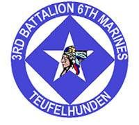 """3rd Battalion 6th Marines is an infantry battalion in the United States Marine Corps based out of Camp Lejeune, North Carolina. Also known as """"Teufelhunden"""", it consists of approximately 300 Marines and Sailors. They fall under the 6th Marine Regiment and the 2nd Marine Division."""