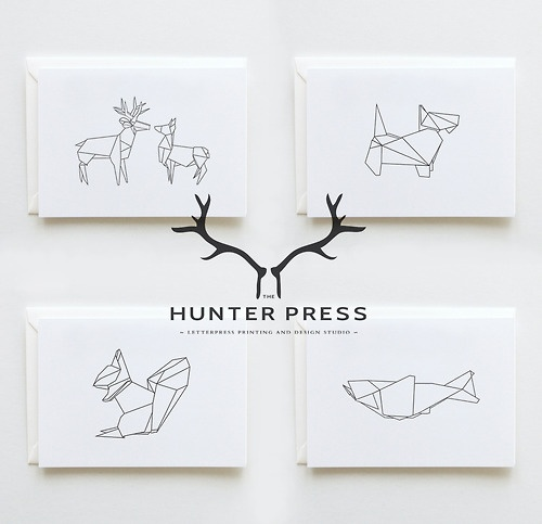 thehunterpress: New Range: Scottish Origami Stationery