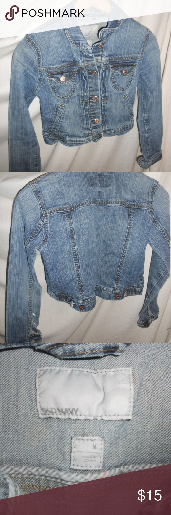 "Old Navy Girls Kids Jean Jacket Size Medium Old Navy Girls Kids Jean Jacket Size Medium. Jacket is in excellent condition.  Additional Measurements.  Length - 19"" Chest - 16"" Arm Length - 24"" Old Navy Jackets & Coats Jean Jackets"