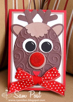 reindeer -- these make into cards that are gift card holders