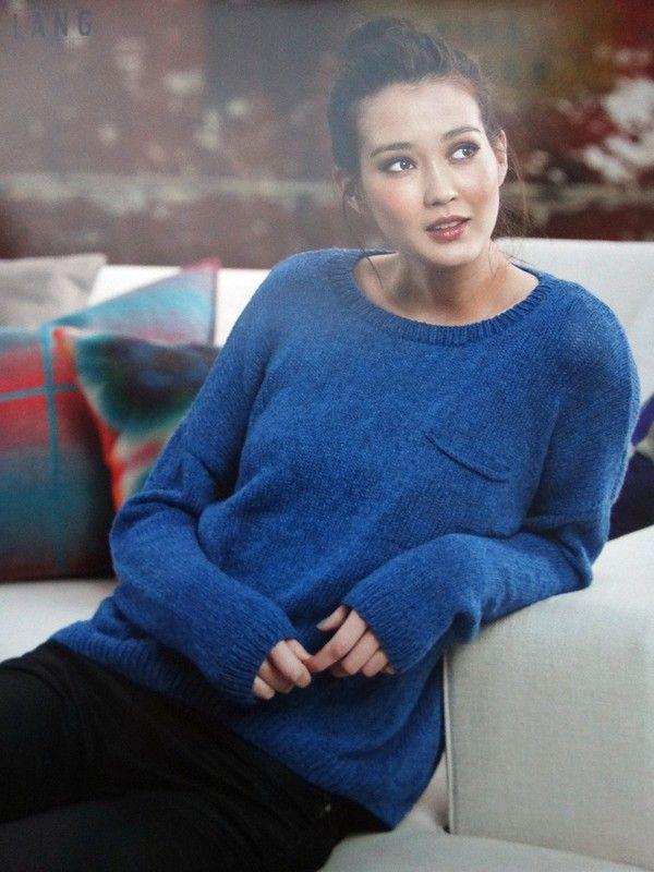 Синий свободный пуловер с кармашком. Обсуждение на LiveInternet - Российский Сервис Онлайн-Дневников