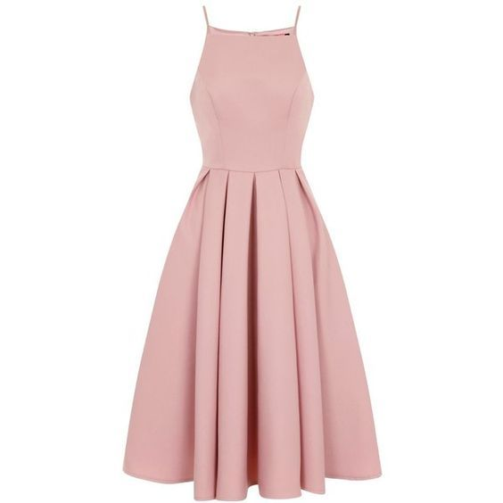 Minimalist Knee-length Satin Homecoming Dress in Blush Pink