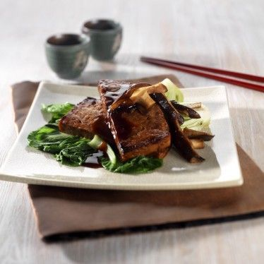 Grilled teriyaki tofu