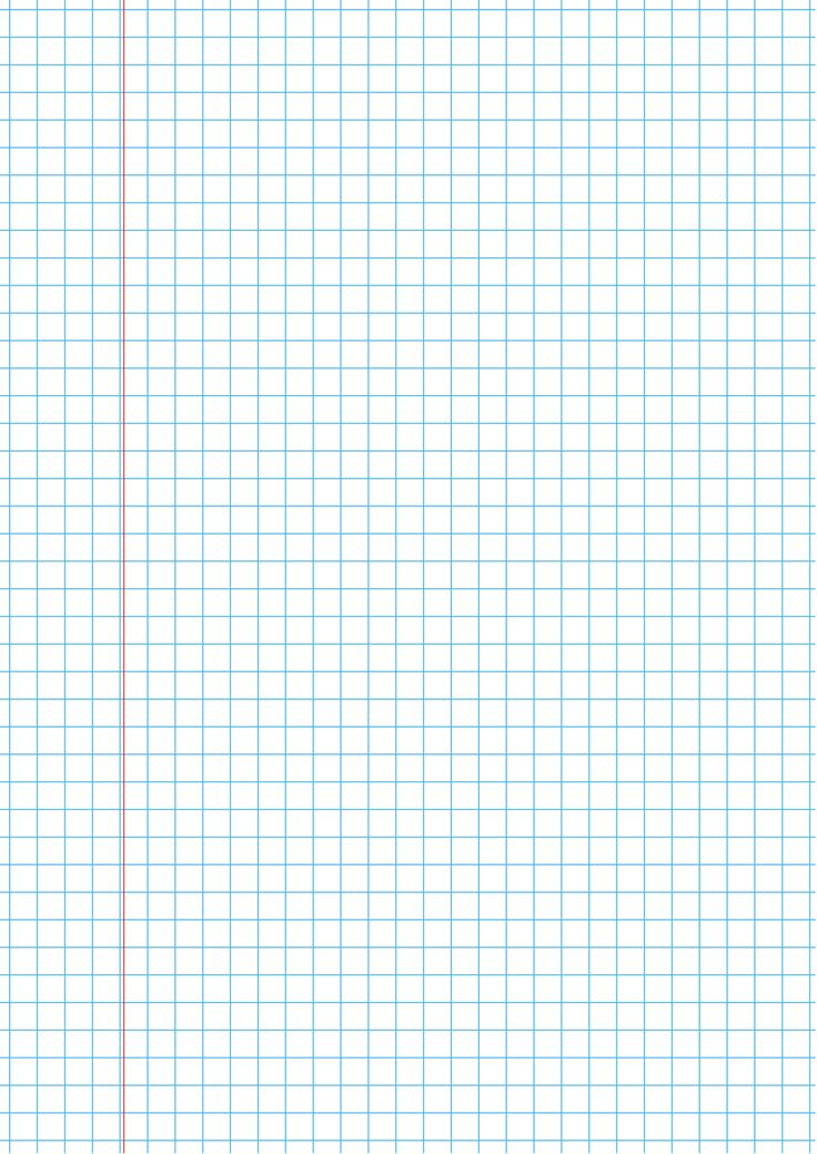 Squared College Ruled blue with margin Printable graph