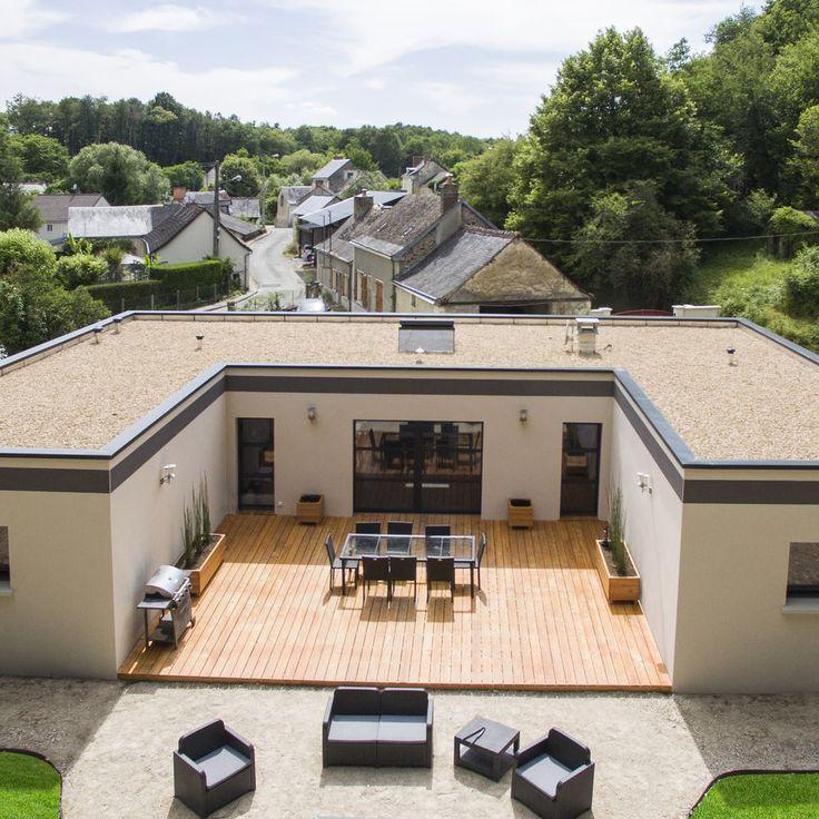 Une maison pour vivre au jardin en 2019 | Plan maison contenaire, Plans maison container et ...