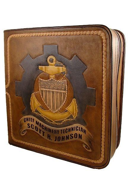 Coast Guard Cpo Designs Custom Made Leather Binder Uscg