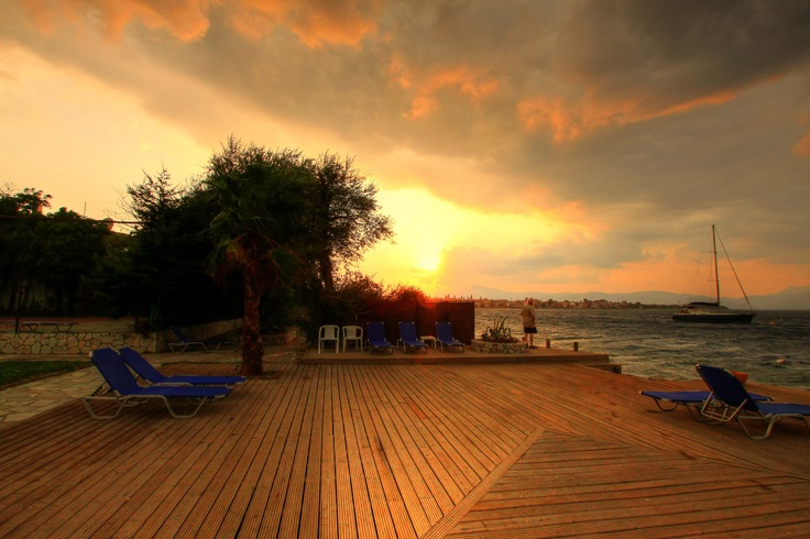 Sunset view from Florida Blue Bay Resort  beach deck. Photo by Catherine Kõrtsmik.
