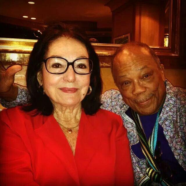 Nana Mouskouri and Quincy Jones in Paris.