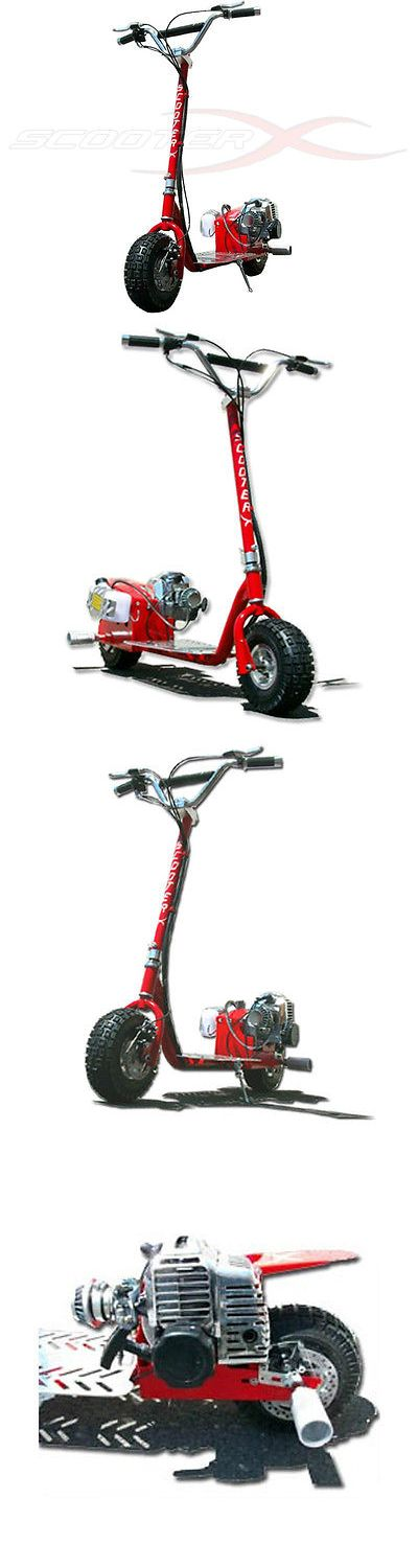 Gas Scooters 75211: Scooterx Dirtdog Red Mo-Ped Stand Up Gas Scooter Dirtbike Handlebars Adult Kid -> BUY IT NOW ONLY: $399.99 on eBay!