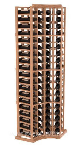 """Five Star Series: 4 Column 76 Bottle True Radius Corner Wine Cellar Rack in Mahogany with Satin Finish by Wine Racks America®. $574.49. Bottle capacity: 76 bottles (750ml). Industry 1-1/2"""" toe-kick keeps your wine off the floor.. Money Back Guarantee + Lifetime Warranty. Made from eco-friendly wood sources in sustainable forests. 3 ¾"""" wide cubicles for bottle access.. 11/16"""" wood thickness. Designed for 750ml wine bottles. Some assembly required .. Choose From eithe..."""