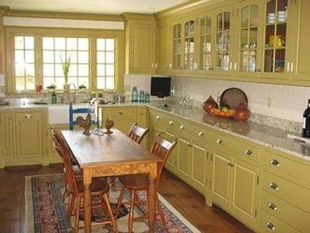 retro yellow kitchen