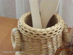 Мастер-класс Поделка изделие Плетение МК Загибки Бумага газетная Трубочки бумажные фото 35