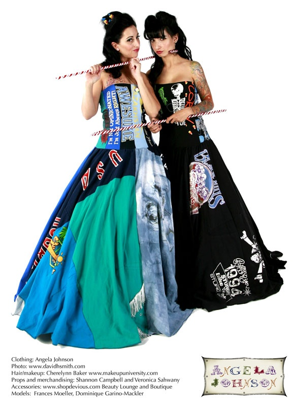 upcycled T-shirt gowns