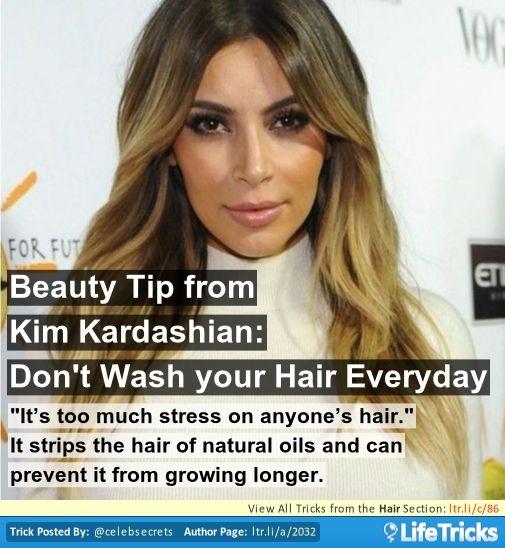 Beauty Tip From Kim Kardashian: Don't Wash Your