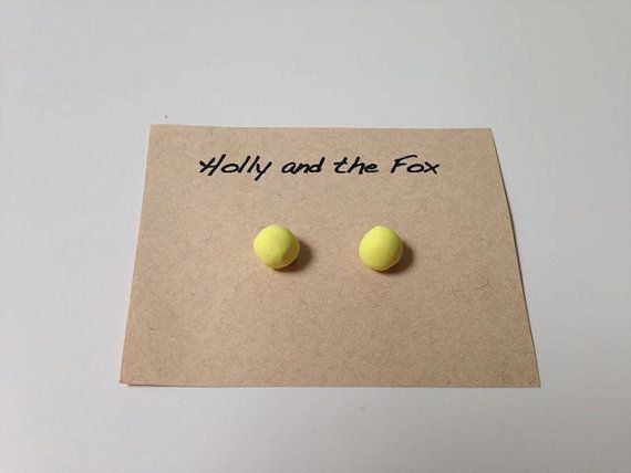 LEMON SHERBET Clay Bead Earrings