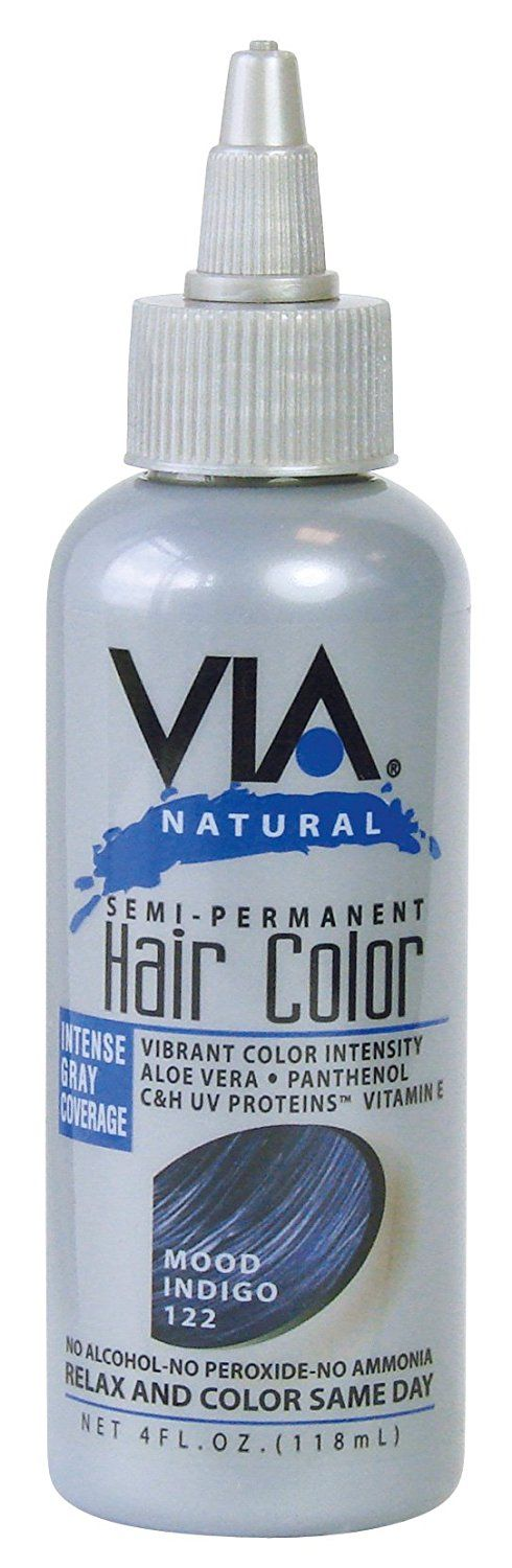 VIA NATURAL SEMI-PERMANENT HAIR COLOR RINSE with ALOE VERA 4oz (-122 MOON INDIGO) ** Read more info by clicking the link on the image. #hairdresser
