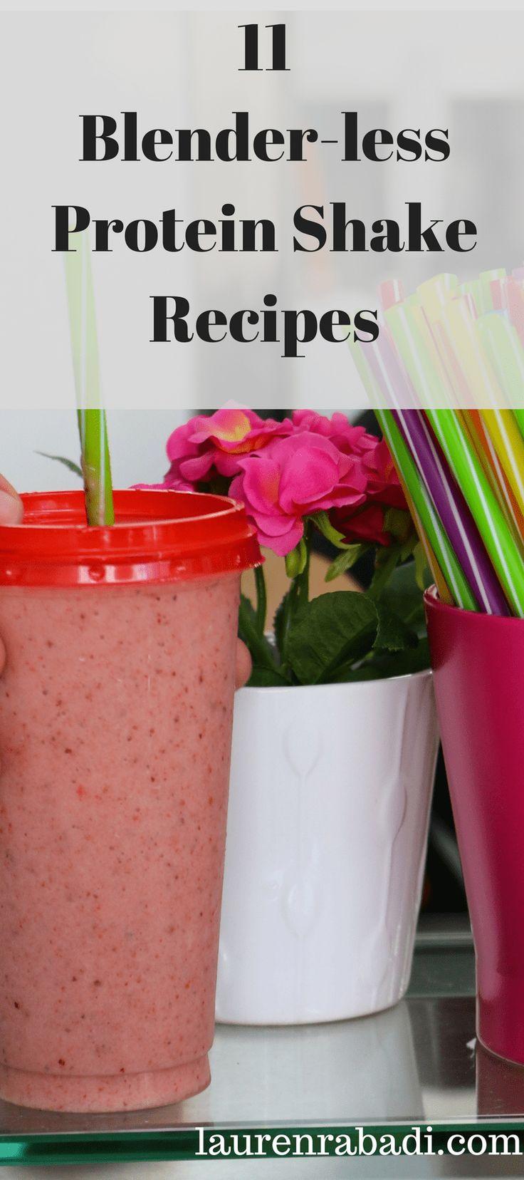 11 Blender-less Protein Shake Recipes Using My Blender Bottle #proteinshake #weightloss #healthyrecipes