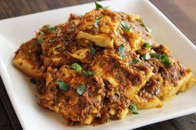 インド料理の豆腐カレー(ヴィーガン)