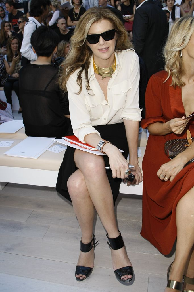 Le Figaro's Virginie Mouzat at Chloe S12 Rtw