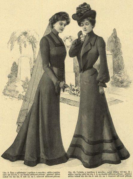 Stroje żałobne, 1902   Mourning outfits, 1902