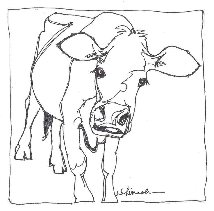 Line Art Jersey : Best desenhos de vaquinhas para colorir cows drawings
