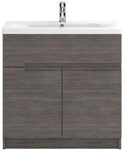hr urban > floor standing 800mm vanity unit & basin type 2 (grey avola). - taps4less.ie
