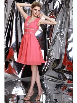 ericdress.com offers high quality  Fancy A-Line V-Neck Beadings Crystal Prom/Homecoming Dress Junior Prom Dresses unit price of $ 78.84.