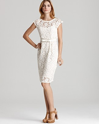 Can someone please throw a white party! Love this Nanette Lepore Dress. Notice the lace, again.