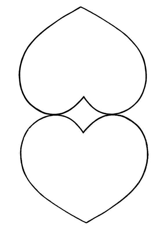 Gabarit - Coeur 3D à suspendre pour fête des mamies