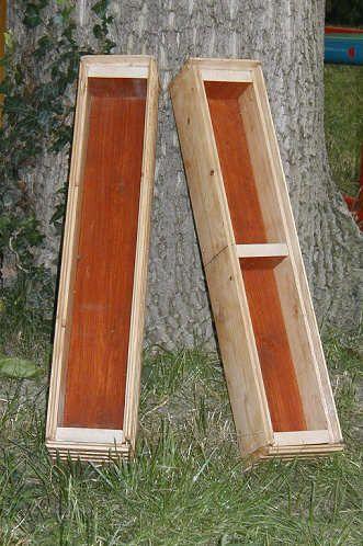 selbstgebaute Seifenformen / Holz