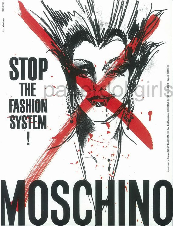 fashion magazine ad 1990 french vogue mosschino by paperdollgirls 1400 - Ausatmen Fans Ef34