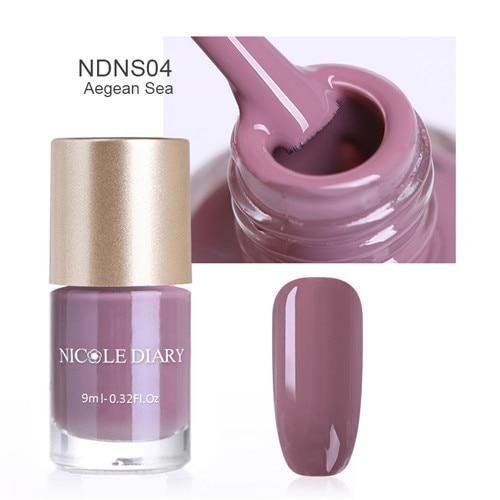 NICOLE DIARY 9ml Nail Polish Varnish Metallic Mirror Effect Matte Dull Series Polish Manicure…