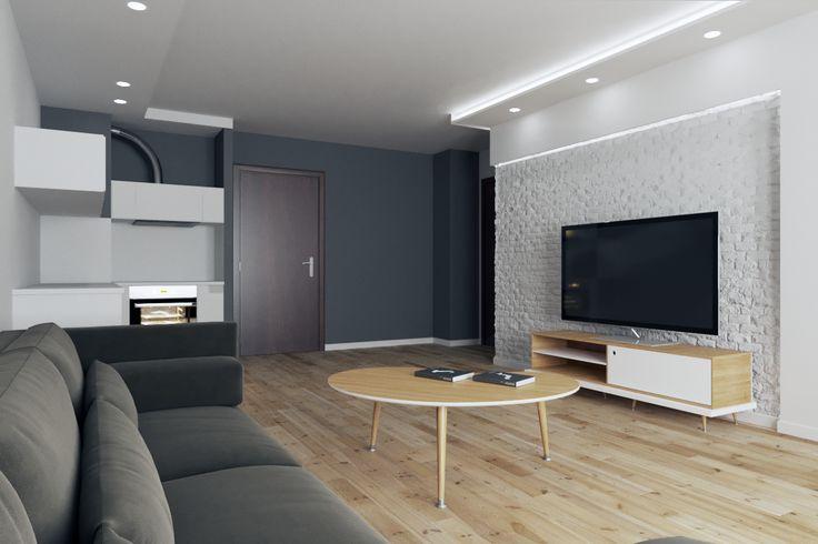 Тумба для мультимедиа TiWi и журнальный столик Почка #мебель #мебельдля #дизайнеринтерьера #скандинавскийдизайн