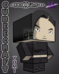 Cubeecraft of Yumi Ishiyama from Cartoon Code Lyoko   SKGaleana