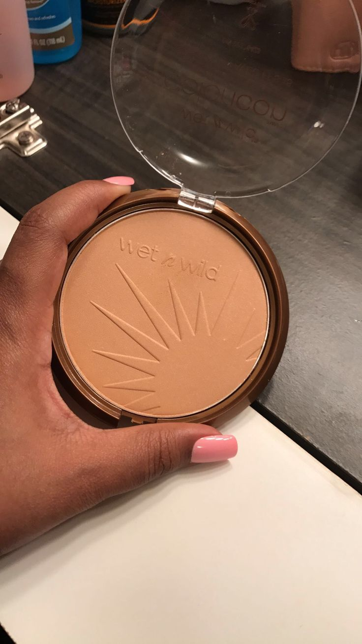 Wet n Wild - Ticket To Brazil for $4.00 from my near by drugstore. I'm sure it would work great on a lighter skin complexion from mines. However, works great for a highlighter you would just have to apply some Fix + to get the full shade to show on you.