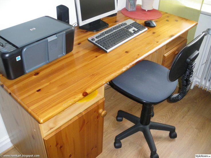 Före - ett gammalt skrivbord.