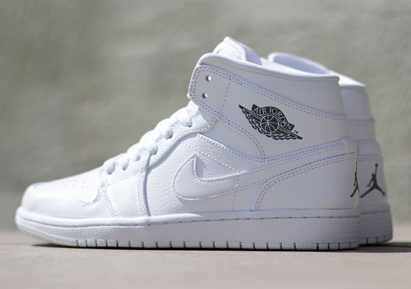 Air Jordan 1 Mid (WhiteCool Grey) | Sneakers, Basket homme