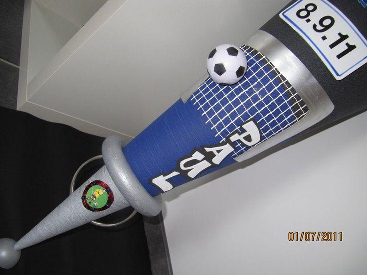 Schultüten - Schultüte FUßBALL+ Pokal + Name + Datum über1m - ein Designerstück…
