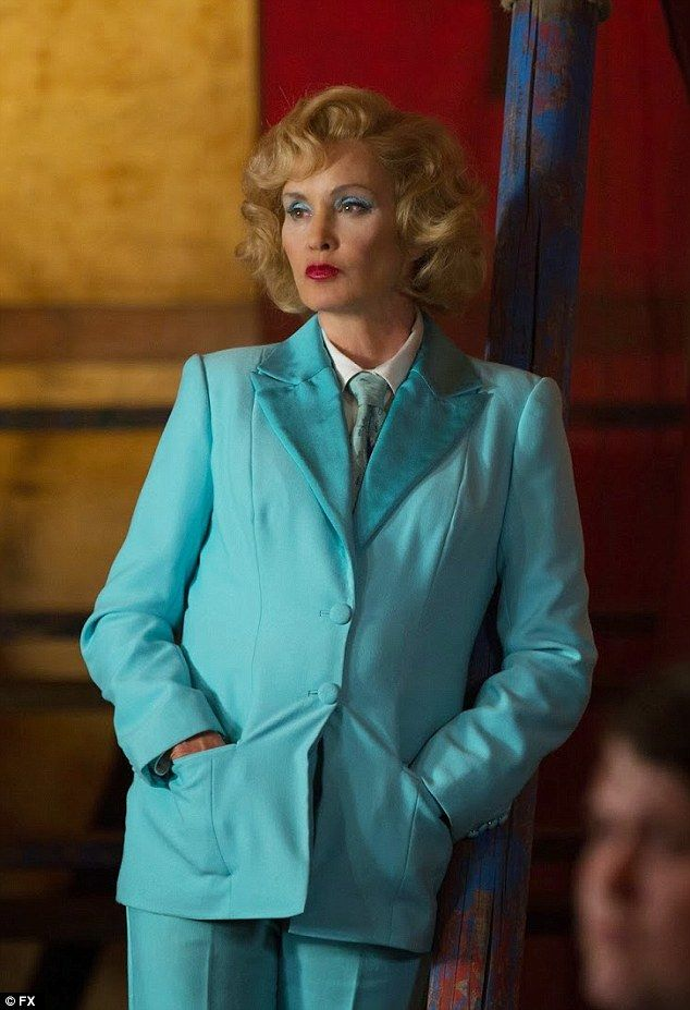 Freak Show: Lange can currently be seen as German chanteuse Elsa Mars on the fourth season of American Horror Story