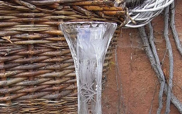 Vintage Kristall - zarte Kristallvase handgeschliffen shabby chic - ein Designerstück von artdecoundso bei DaWanda