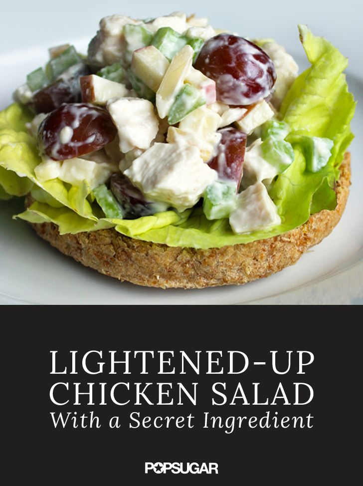 If you love chicken salad but don't love the calories, we have a recipe for you! Get rid of the mayo and save tons of calories while increasing the health benefits of your favorite chicken dish.