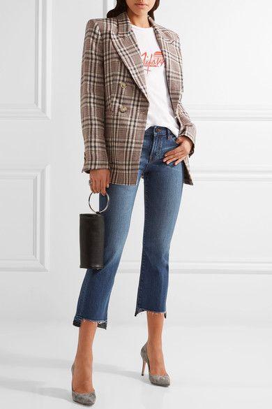 Blue stretch-denim Button and concealed zip fastening at front 98% cotton, 2% elastane Machine wash Designer wash: Decoy