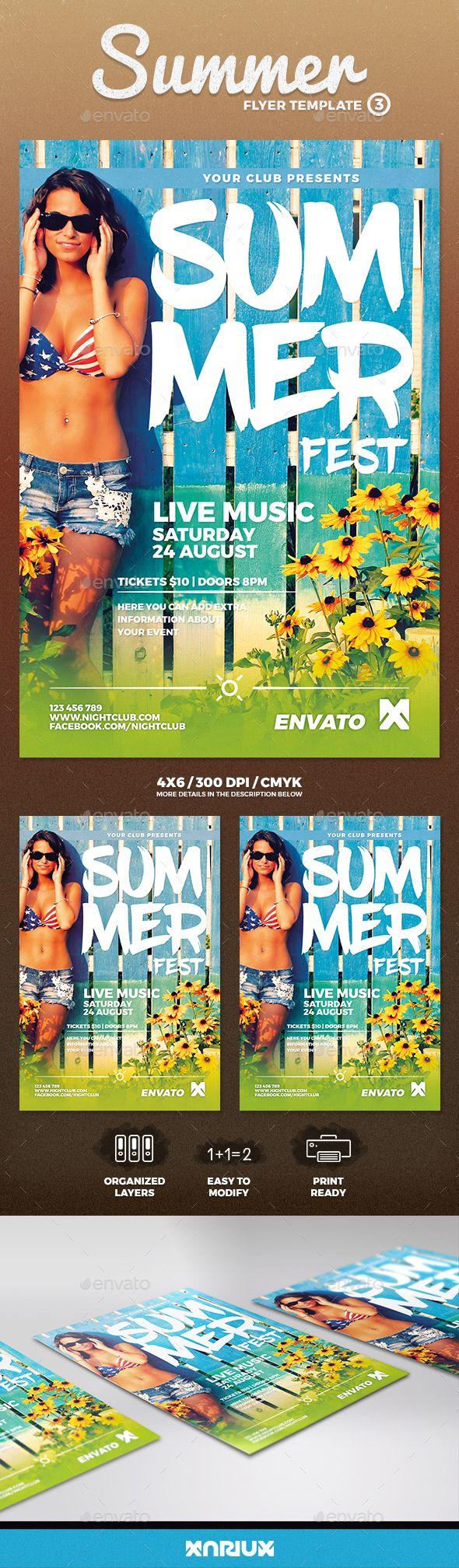 1768 besten Summer Flyer Bilder auf Pinterest   Schriftarten, Flyer ...