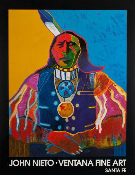 Painting by John Nieto (Nations of New Mexico) Ventana Fine Art poster
