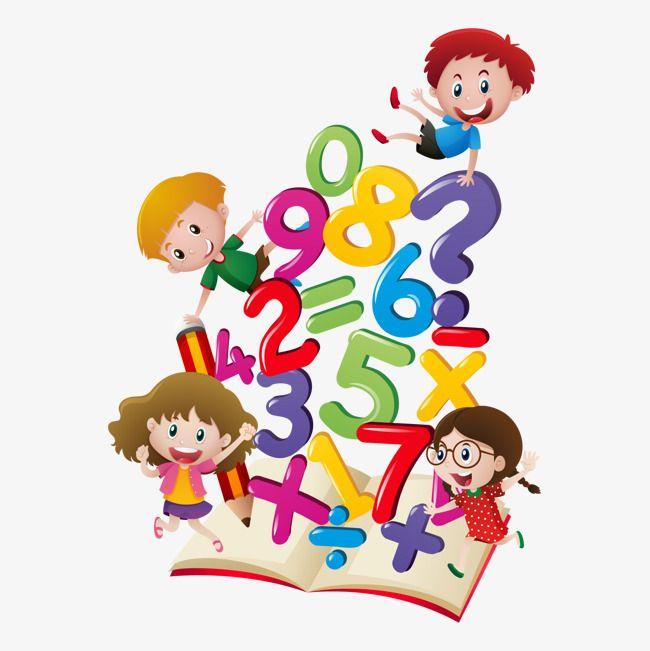 Vector Mathematics Textbook Child Kindergarten Decoration Png