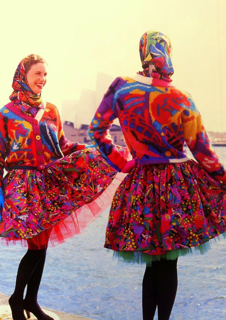 Vintage Inspiration: Photo Jenny Kee Sydney Harbour 1988 fashion Australia